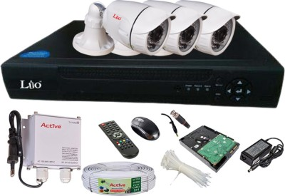 Lio AHD Full Combo, AHD 1.3MP 36IR Bullet 3Pcs + 1TB HDD + CCTV Cable + AHD DVR 4 Channel Home Security Camera