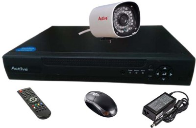 Active Feel Free Life CCTV COMBO KIT, 36IR Bullet Camera 1Pcs + Analog & AHD 4 Channel Home Security Camera