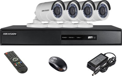Hikvision DS-7204HGHI-SH 4CH Dvr, 4(DS-2CE16C2T-IRP) Bullet Cameras (With Mouse, Remote)