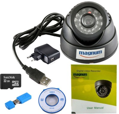 magnum elite Dome USB Camera with Memory Card Support(SANDISK 32GB Memory Card Included) 0 Channel Home Security Camera