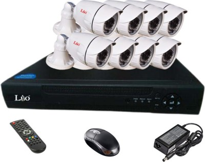 Lio AHD Combo, 1MP AHD Bullet 36IR Camera 8Pcs + LIO AHD DVR 8 Channel Home Security Camera