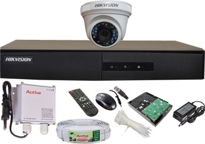 Hikvision-DS-7204HGHI-E1-4CH-Dvr,-1(DS-2CE56COT-IRP)-Dome-Camera-(With-Mouse,-Remote,-500GB-HDD,Cable,-Bnc&Dc-Connectors,Power-Supply)