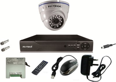 PG-TECH PG-OCAC4 4-Channel Dvr ,1(1000TVL) Dome Camera (With Accessories)