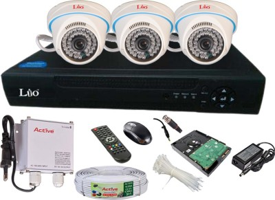 Lio AHD Full Combo, AHD 1.3MP Dome Camera 3Pcs + 1TB HDD + CCTV Cable + AHD DVR 4 Channel Home Security Camera