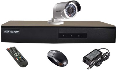 Hikvision DS-7204HGHI-E1 4CH Dvr, 1(DS-2CE16COT-IR) Bullet Camera (With Mouse,Remote)