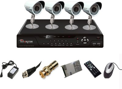 Tentronix-T-4AVR-4-B10-4-Channel-AHD-DVR-4-(1MP-36-IR-AHD)-Bullet-Cameras
