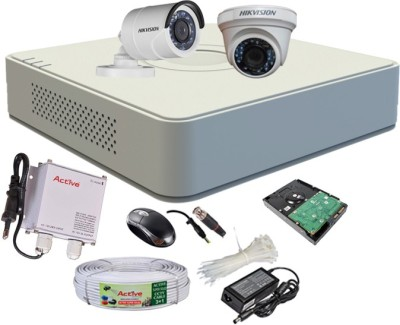 Hikvision-DS-7104HGHI-F1-Mini-4CH-Dvr,-1(DS-2CE56COT-IR)-Dome,-1(DS-2CE16COT-IR)-Bullet-Camera-(With-Mouse,-500GB-HDD,-Bnc&Dc-Connectors,Power-Supply,Cable)