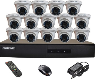 Hikvision-DS-7216HGHI-E1-16CH-Dvr,-14(DS-2CE56COT-IR)-Dome-Cameras-(With-Mouse,-Remote)