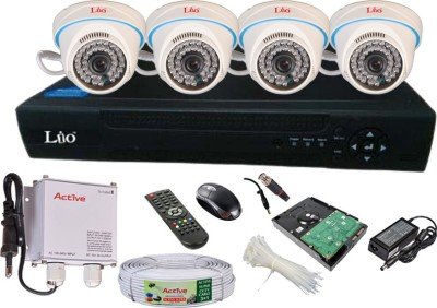Lio AHD Full Combo, AHD 1.3MP Dome Camera 4Pcs + 1TB HDD + CCTV Cable + AHD DVR 4 Channel Home Security Camera