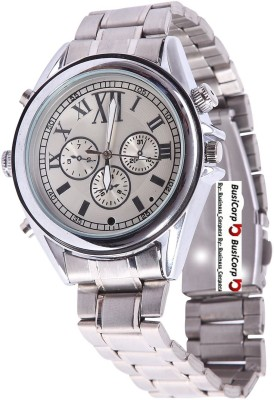 Busicorp Steel-Wrist-Watch 4 Channel Home Security Camera