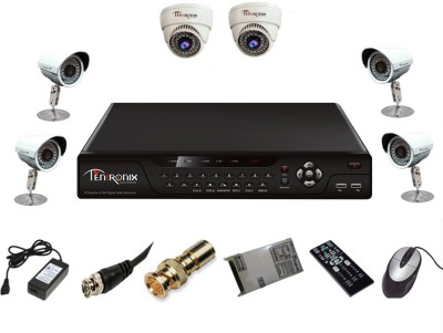 Tentronix-T-8AVR-6-D2B410-8-Channel-AHD-DVR-+-2-(1-MP-36-IR-Dome-)-+-4-(1-MP-36-IR-Bullet)-Cameras