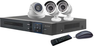 Blaze BGD1B2-HD 4-Channel Dvr (With 1 Dome & 2 Bullet Cameras ,Remote, Mouse)