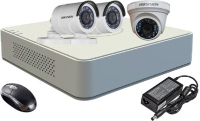 Hikvision-DS-7104HGHI-F1-Mini-4CH-Dvr-,-2(DS-2CE16COT-IRP)-Bullet-,1(DS-2CE56COT-IRP)-Dome-Camera-(With-Mouse)