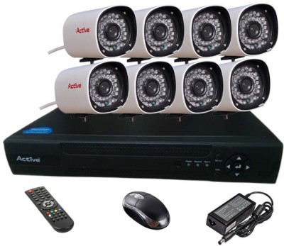Active Feel Free Life CCTV COMBO KIT, 36IR Bullet Camera 8Pcs + Analog & AHD 8 Channel Home Security Camera
