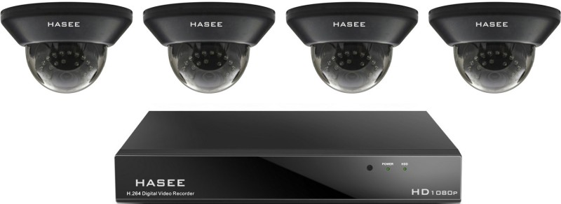 Hasee 04CH HDCVI DVR 4 Channel Home Security Camera(1 TB)