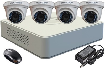 Hikvision-DS-7104HGHI-F1-Mini-4CH-Dvr,-4(DS-2CE56C2T-IR)-Dome-Camera-(With-Mouse)