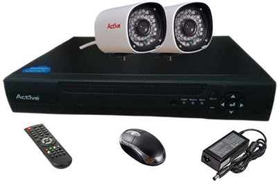 Active Feel Free Life CCTV COMBO KIT, 36IR Bullet Camera 2Pcs + Analog & AHD 4 Channel Home Security Camera