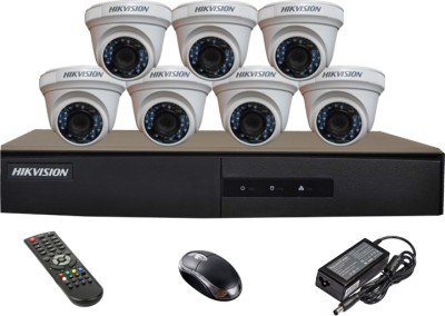 Hikvision-DS-7208HGHI-E1-8CH-Dvr-,-7(DS-2CE56C2T-IRP)-Dome-Cameras(with-Remote,Mouse,Adapter-)