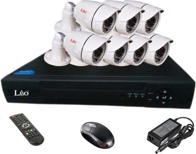 Lio Ahd Combo, 1mp Ahd Bullet 36ir Camera 7pcs + Lio Ahd Dvr 8 Channel Home Security Camera