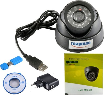 magnum elite 2pcs. USB Dome Camera with Memory Card Support 0 Channel Home Security Camera