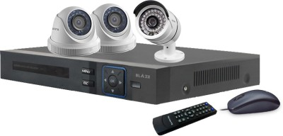 BLAZE 1.3 MP HD CCTV and DVR Combo Package 3 Channel Home Security Camera