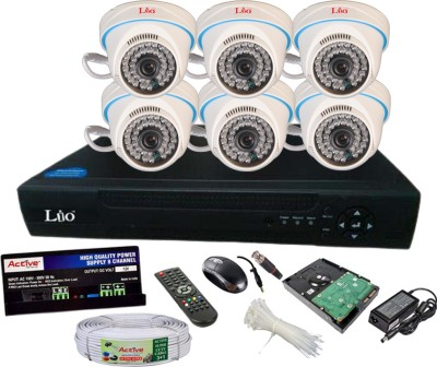 LIO AHD Full Combo, AHD 1MP Dome Camera 6Pcs + CCTV Cable + 2TB HDD + AHD DVR 8 Channel Home Security Camera