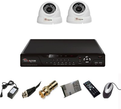 Tentronix T-4AVR-2-D13 4-Channel AHD Dvr, 2 (1.3 MP 36 IR) Dome Cameras