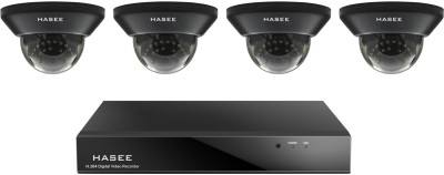 Hasee HT-04CHIRD900-4A 4CH Dvr, 4(900TVL/36 IR) Dome Cameras(With Accessories, 1TB HDD)