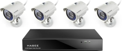 Hasee HT-04CHIRB900-4A 4CH Dvr, 4(900TVL/36 IR) Bullet Cameras(With Accessories, 1TB HDD)