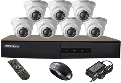 Hikvision-DS-7208HGHI-E1-8CH-Dvr,-7(DS-2CE56COT-IR)-Dome-Camera(with-Mouse,Remote)