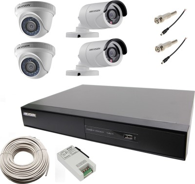 Hikvision Hybrid Video Recorder 4 Channel Home Security Camera