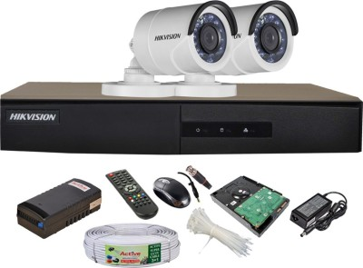 Hikvision-DS-7204HGHI-E1-4CH-Dvr,-2(DS-2CE16COT-IRP)-Bullet-Cameras-(with-Mouse,-Remote,-1TB-HDD,Cable,-Bnc&Dc-Connectors,Power-Supply)