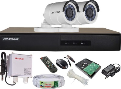 Hikvision-DS-7204HGHI-E1-4CH-Dvr,-2(DS-2CE16COT-IRP)-Bullet-Cameras-(with-Mouse,-Remote,-500GB-HDD,Cable,-Bnc&Dc-Connectors,Power-Supply)