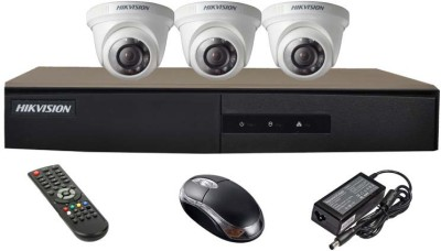 Hikvision DS-7204HGHI-E1 4-CH Dvr, 3(DS-2CE56COT-IR) Dome Camera (with Mouse,Remote)