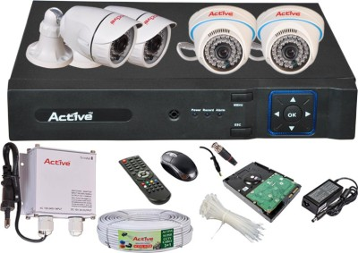 Active Feel Free Life AHD Full Combo, AHD 2MP Dome Camera 2Pcs And Bullet Camera 2Pcs + Active Cable + 1 TB HDD + AHD 2MP DVR 4 Channel Home Security Camera