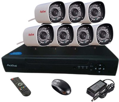 Active Feel Free Life CCTV COMBO KIT, 36IR Bullet Camera 7Pcs + Analog & AHD 8 Channel Home Security Camera