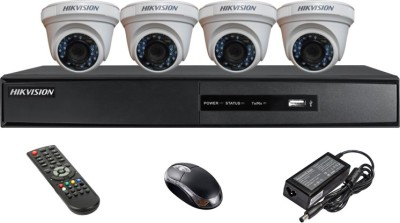 Hikvision-DS-7204HGHI-SH-4CH-Dvr,-4(DS-2CE56C2T-IRP)-Dome-Camera-(With-Mouse,-Remote)