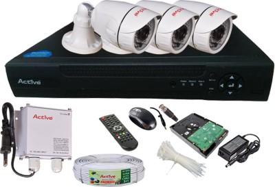 Active Feel Free Life AHD Full Combo, AHD 1MP Bullet Camera 3Pcs + DVR 4 Channel Home Security Camera