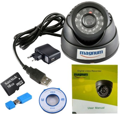 magnum USB Dome Camera with Memory Card Support (16GB SANDISK Memory Card included) 0 Channel Home Security Camera