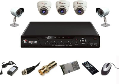 Tentronix T-8AVR-5-D3B210 8-Channel AHD DVR 3 (1MP 36 IR AHD) Dome 2(1MP 36 IR AHD) Bullet Cameras