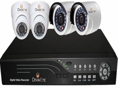 divineye DVR SYSTEM 4 Channel Home Security Camera
