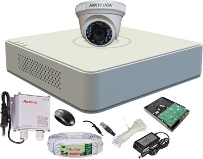 Hikvision-DS-7104HGHI-F1-4CH-Mini-Dvr,-1(DS-2CE56COT-IR)-Dome-Camera-(With-Mouse,-1TB-HDD,-Bnc&Dc-Connectors,Power-Supply,Cable)