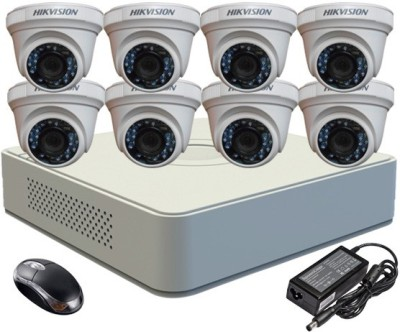 Hikvision DS-7108HGHI-F1 Mini 8CH Dvr, 8(DS-2CE56COT-IR) Dome Cameras (With Mouse)