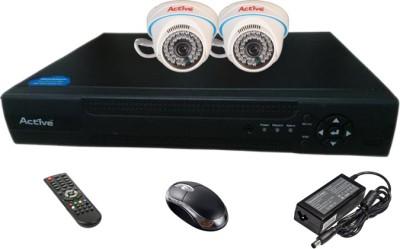 Active Feel Free Life AHD Combo, 2Pcs AHD 1.3MP DOM Camera + AHD DVR 4 Channel Home Security Camera