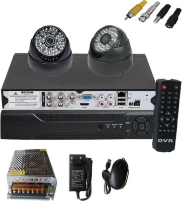 Easy-2-CCTV-Dome-camera-&-4-channel-DVR-kit-Security-Camera-(With-Power-Supply,Software-CD,Mouse)