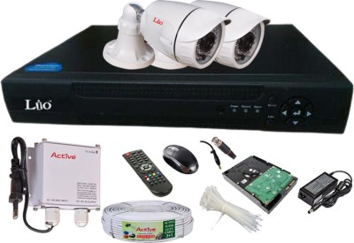 Lio AHD Full Combo, AHD 1.3MP 36IR Bullet 2Pcs + 1TB HDD + CCTV Cable + AHD DVR 4 Channel Home Security Camera
