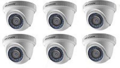 Hikvision DS-2CE56C0T-IRB 720P Dome CCTV Cameras (6 Pcs)