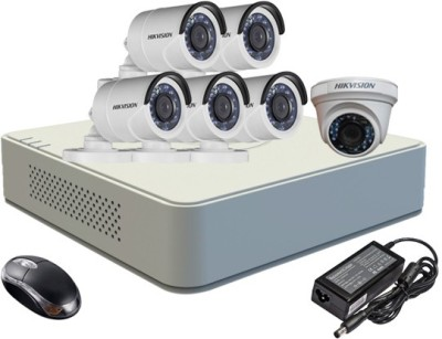 Hikvision-DS-7108HGHI-F1-Mini-8CH-Dvr,-5(DS-2CE16C2T-IRB)-Bullet,1(DS-2CE56C2T-IR)-Dome-Camera-(With-Mouse,-1TB-HDD,Bnc&Dc-Connectors,Power-Supply,Cable)