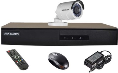 Hikvision DS-7204HGHI-E1 4CH Dvr, 1(DS-2CE16COT-IRP) Bullet Camera (With Mouse,Remote)