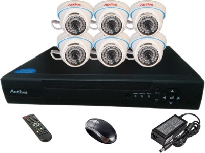 Active Feel Free Life AHD COMBO, 6 AHD Camera + AHD DVR 8 Channel Home Security Camera